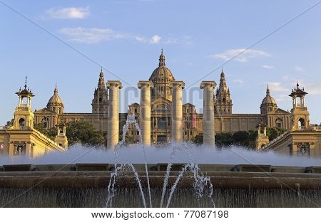 Magic Fountain in Montjuic, Barcelona