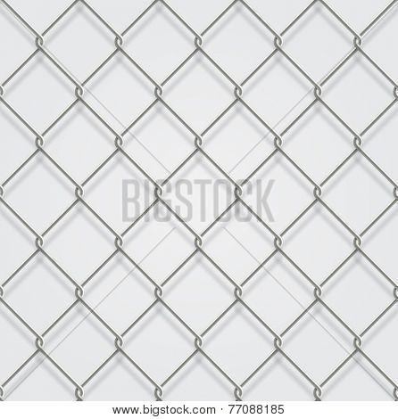 Seamless chain fence background with shadow.