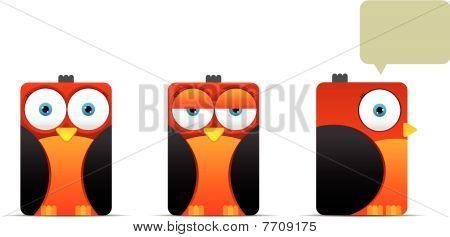 Square Orange Bird