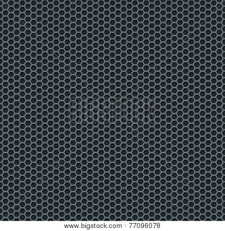 Silver metallic grid background pattern