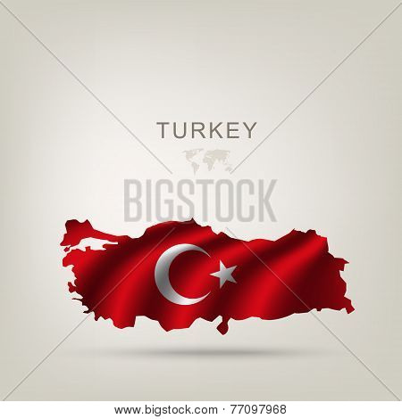 Flag Of Turkey As A Country
