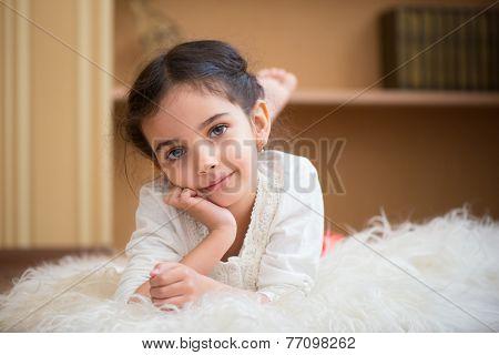 Portrait Of Cute Little Latino Girl