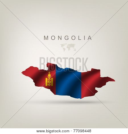 Flag Of Mongolia As A Country
