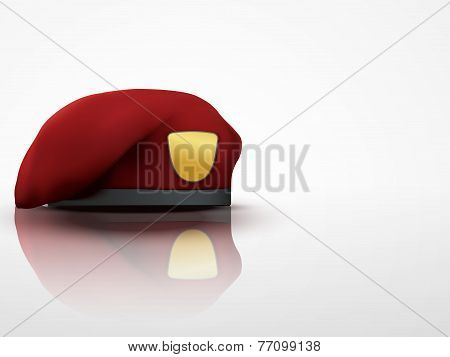 Light Background maroon Military Red Beret Army Special Forces