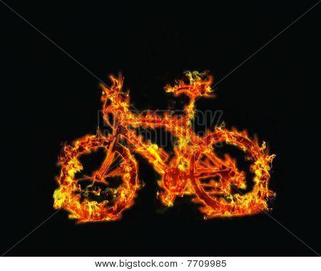 burning bike