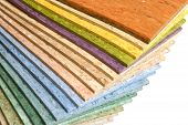 stock photo of linoleum  - The samples of collection a multicolored linoleum - JPG