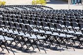 pic of grandstand  - Grandstand Seats rows outdoors - JPG