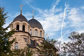 picture of church  - Our Lady of the Sign Church the orthodox church in Vilnius Lithuania - JPG