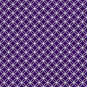 stock photo of interlocking  - Purple and White Interlocking Circles Tiles Pattern Repeat Background that is seamless and repeats - JPG