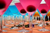 stock photo of swinger  - Blue and Pink cocktails close - JPG