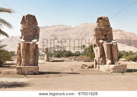 The Colossi Of Memnon Giant Statues