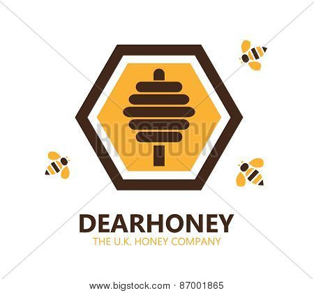 Vector Honey Logo Or Symbol Icon