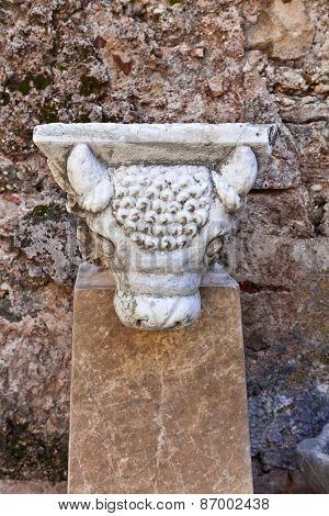 Ancient Roman marble statue.