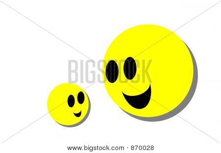 Parent and Child Smiley Faces