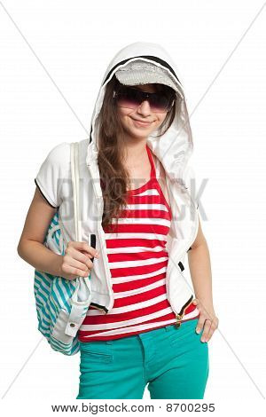 Stylish Happy Teen Girl