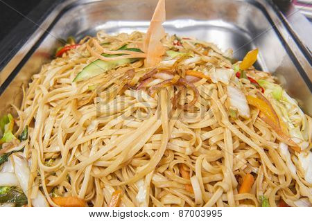 Pad Thai Meal At A Chinese Restaurant Buffet