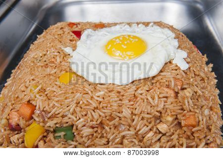 Indonesian Nasi Goreng Meal At A Chinese Restaurant