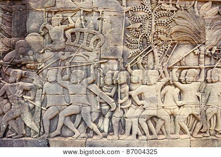 bas-relief in Bayon