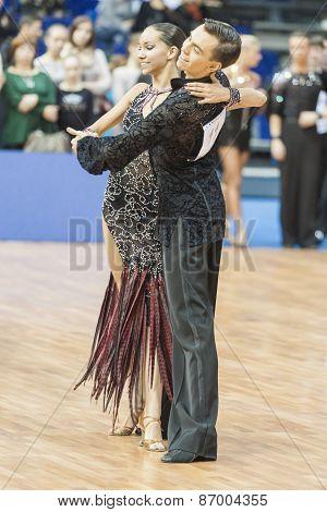 Minsk, Belarus-february 15,2015: Sultanov Mussa And Khassanetdinova Mariya