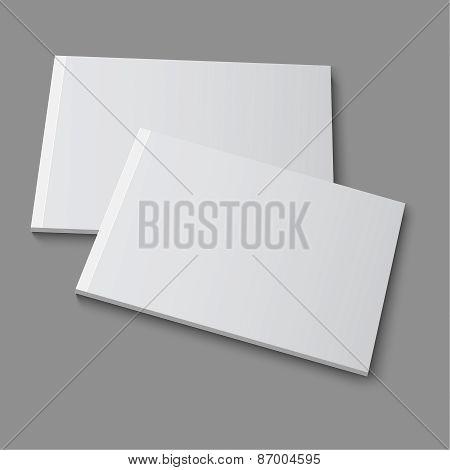 Blank empty magazine, album or book