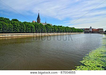 Konigsberg Cathedral On Kneiphof Island. Symbol Of Kaliningrad. Russia
