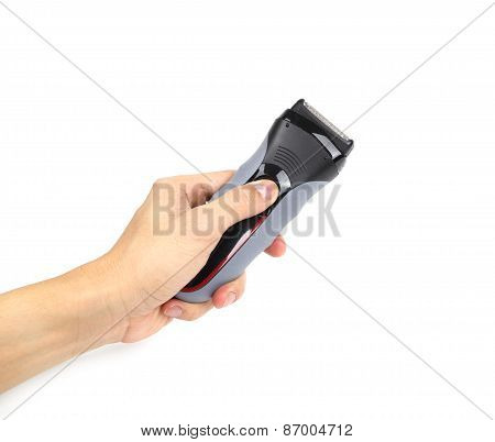 Hand With Electric Shaver