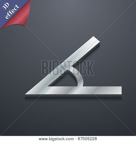 Angle 45 Degrees Icon Symbol. 3D Style. Trendy, Modern Design With Space For Your Text Vector