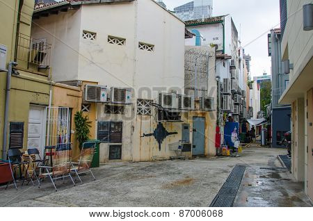Back alley in Singapore