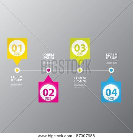vector Abstract digital illustration Infographic.