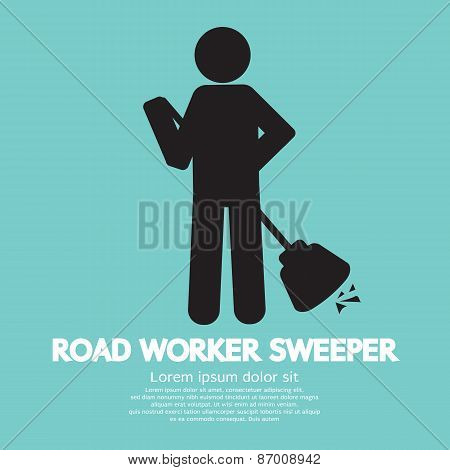 Road Worker Sweeper.
