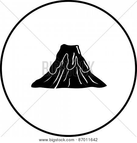 volcano with lava symbol