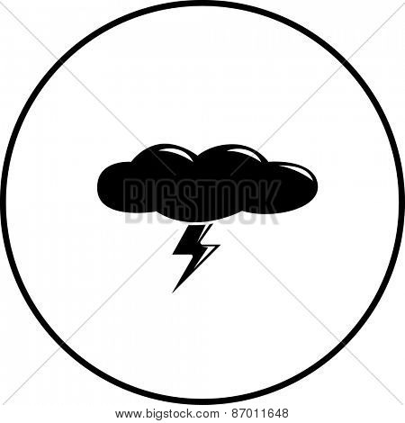 cloud with lightning symbol