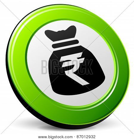 Rupee 3D Icon