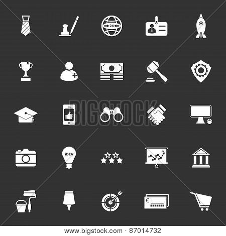 Sme Icons On Gray Background
