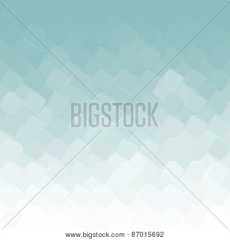 Ice Blue Gradient Geometric Light Effect