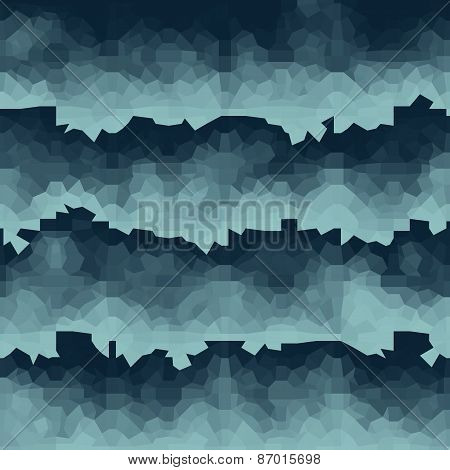 Blue Gradient Wave Geometric Light Effect