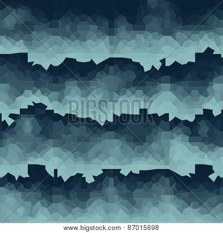 Blue Gradient Wave Geometric Light Effect