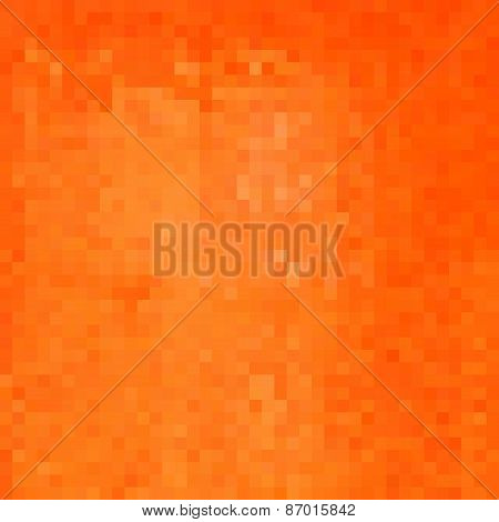 Orange Square Pixel Gradient Grunge Light Effect