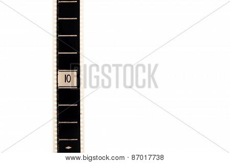 Number Ten Countdown Movie Filmstrip Vertical And Copyspace