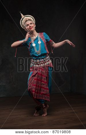 pretty girls in traditional costumes