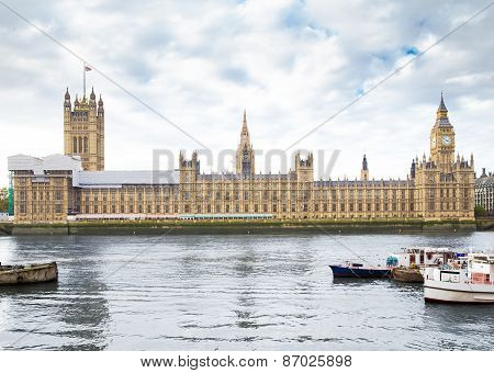 Houses of Parliament in London UK