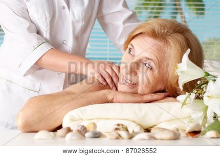 woman at the spa