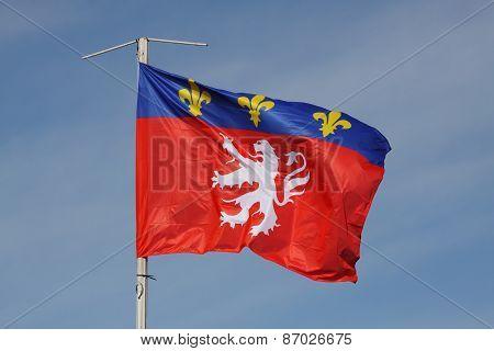 Flag of Lyon, France