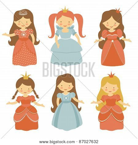Beautiful princesses set