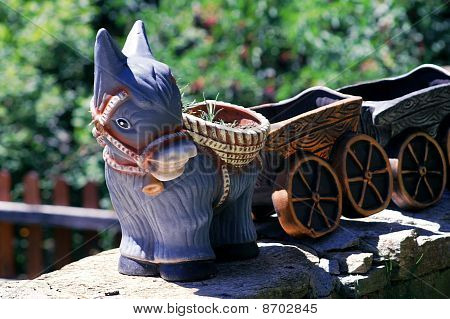 donkey flower pot