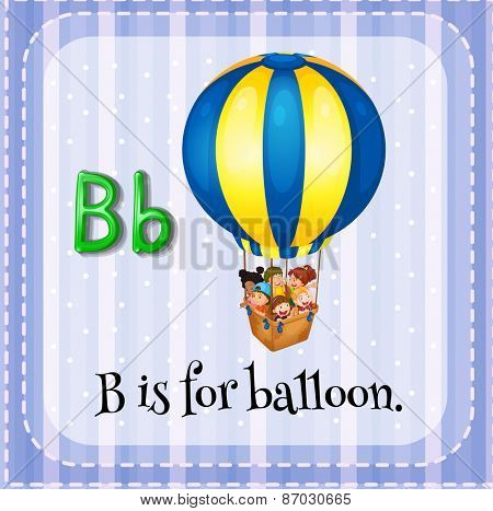 Flashcard letter B is for balloon