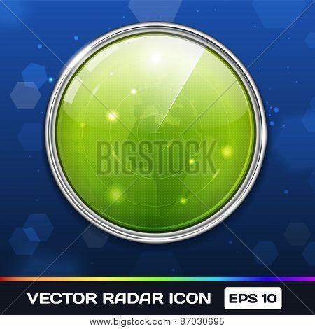 Green Radar Icon