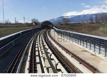 Subway Train Platform