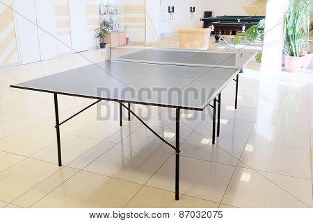 Table tennis in indoor