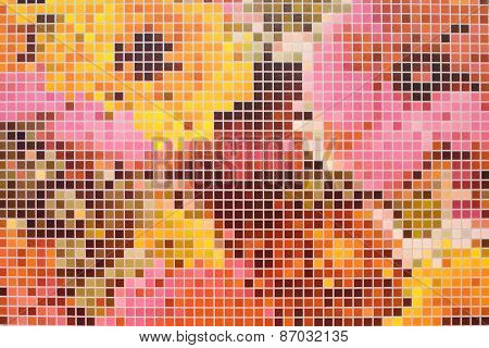 Multicolor square mosaic background